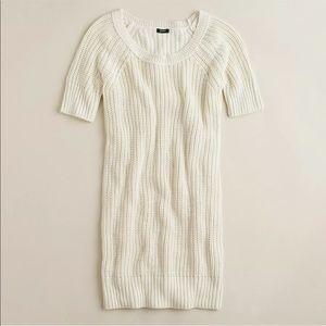 J Crew Silk Cotton Rib Stitch Knit Dress Medium